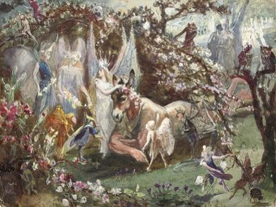 Titania and Bottom from William Shakespeare's 'A Midsummer-Night's Dream'