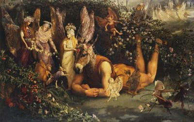 Titania and Bottom: Scene from a Midsummer-Night's Dream