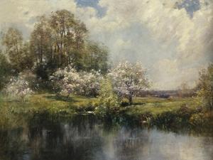 Apple Trees in Blossom by John Appleton Brown