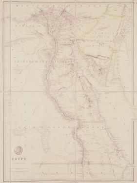Map of Egypt, 1832 by John Arrowsmith