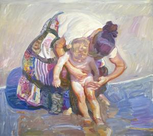 Beach Bather by John Asaro