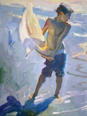 Boy With Boat by John Asaro