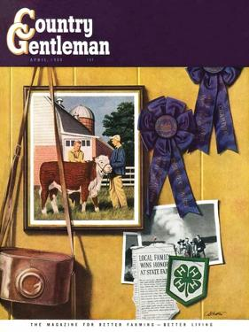 """4-H Momentos,"" Country Gentleman Cover, April 1, 1950 by John Atherton"