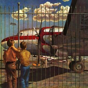 """Boys at Airport,"" March 30, 1946 by John Atherton"