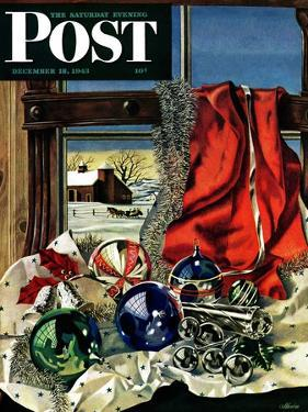 """Christmas Ornaments,"" Saturday Evening Post Cover, December 18, 1943 by John Atherton"