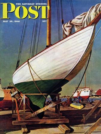 """Dry Dock,"" Saturday Evening Post Cover, May 25, 1946 by John Atherton"