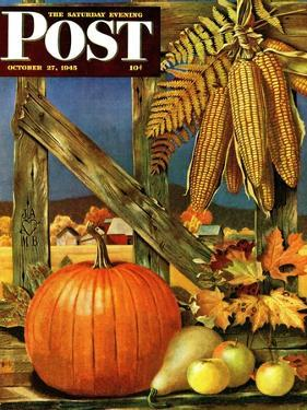"""Fall Harvest,"" Saturday Evening Post Cover, October 27, 1945 by John Atherton"