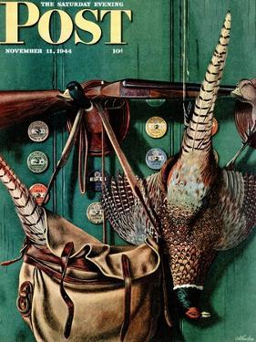 """Hunting still life,"" Saturday Evening Post Cover, November 11, 1944 by John Atherton"