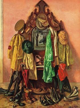 """Loaded Coat Rack"", April 14, 1945 by John Atherton"