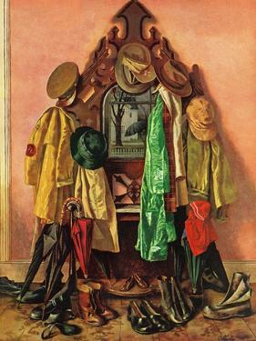 """Loaded Coat Rack"", April 14, 1945 by John Atherton"