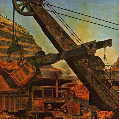 """Mining for Ore,"" November 22, 1947 by John Atherton"