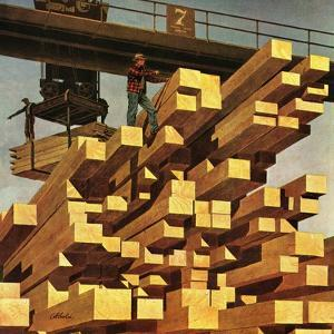 """Oregon Sawmill & Lumberyard,"" April 10, 1948 by John Atherton"