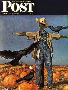 """""""Scarecrow,"""" Saturday Evening Post Cover, October 26, 1946 by John Atherton"""