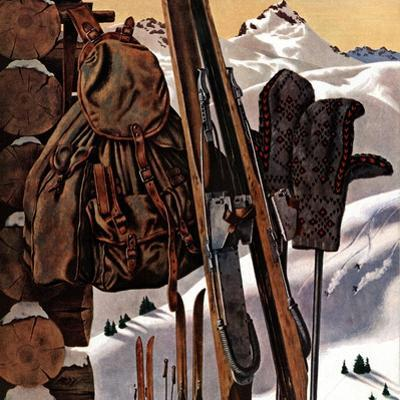 """Ski Equipment Still Life,"" February 3, 1945 by John Atherton"