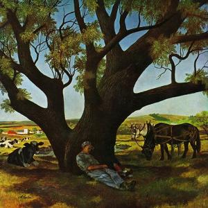 """Sleeping Farmer,"" August 23, 1947 by John Atherton"