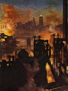"""Steel Mills,"" November 23, 1946 by John Atherton"