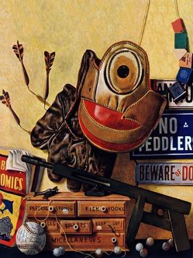 """Still Life of Boys Toys,"" June 30, 1945 by John Atherton"