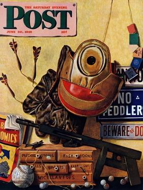 """Still Life of Boys Toys,"" Saturday Evening Post Cover, June 30, 1945 by John Atherton"