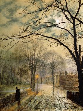 A Moonlit Stroll, Bonchurch, Isle of Wight, 1878 by John Atkinson Grimshaw