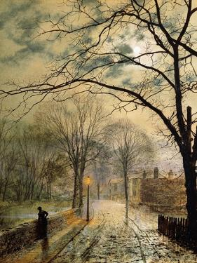 A Moonlit Stroll, Bonchurch, Isle of Wight by John Atkinson Grimshaw