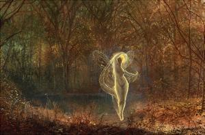 Autumn - 'Dame Autumn Hath a Mournful Face' - Old Ballad by John Atkinson Grimshaw