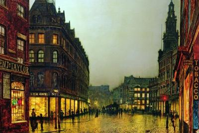 Boar Lane, Leeds, 1881 by John Atkinson Grimshaw