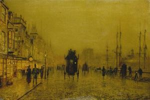 Evening at the Docks of Glasgow by John Atkinson Grimshaw