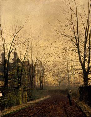Gold of Autumn by John Atkinson Grimshaw