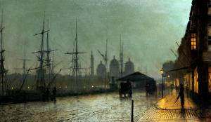 Humber Dockside, Hull by John Atkinson Grimshaw