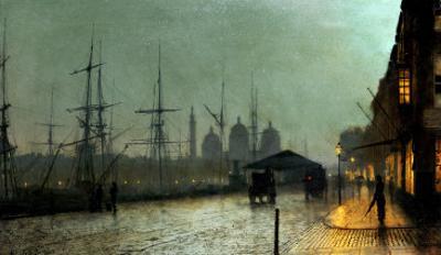 Humber Dockside, Hull by John Atkinson Grimshaw