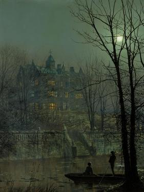 Knostrop Old Hall, Leeds, 1883 by John Atkinson Grimshaw