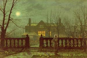Lady in a Garden by Moonlight, 1892 by John Atkinson Grimshaw