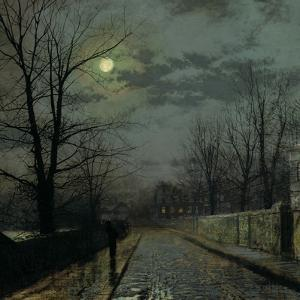 Lane in Cheshire, 1883 by John Atkinson Grimshaw