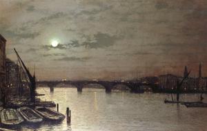 London Bridge, 1883 by John Atkinson Grimshaw
