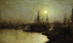 Night Toil, Billingsgate Wharf by John Atkinson Grimshaw