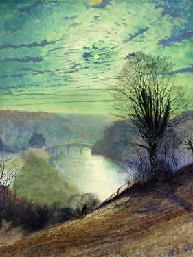 On the Tees, Near Barnard Castle, C.1868 by John Atkinson Grimshaw