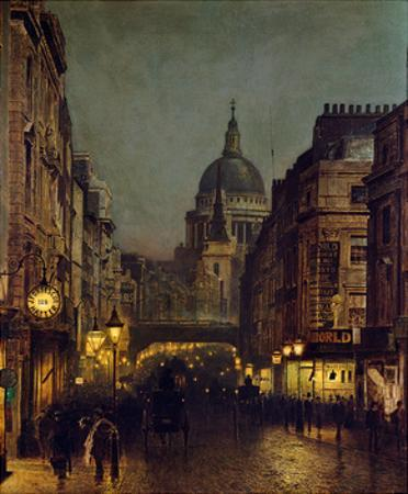 St. Paul's From Ludgate Circus by John Atkinson Grimshaw