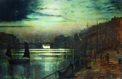 The Harbour Lights, Whitby by John Atkinson Grimshaw