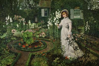 The Rector's Garden, Queen of the Lilies, 1877 by John Atkinson Grimshaw