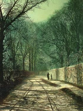 Tree Shadows on the Park Wall, Roundhay, Leeds, 1872 by John Atkinson Grimshaw