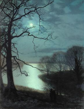 Watching a Moonlit Lake by John Atkinson Grimshaw