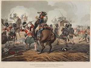 French Cuirassiers in the Battle of Waterloo Charged and Defeated by the Highlanders and Scotch Gre by John Augustus Atkinson