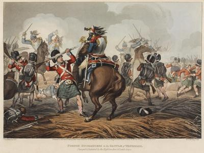 French Cuirassiers in the Battle of Waterloo Charged and Defeated by the Highlanders and Scotch Gre