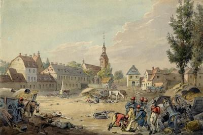 View of the Grimma Suburb, Leipzig, 1813