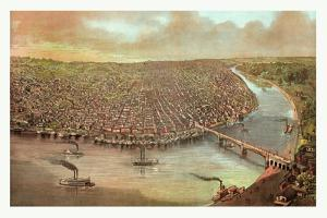 Bird's Eye View of Saint Louis by John Bachmann