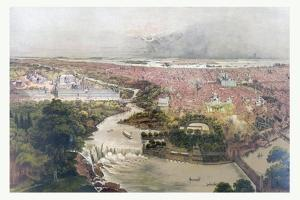 Birds Eye View of Philadelphia and Centennial Grounds, Circa 1875, USA, America by John Bachmann