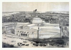 Birds Eye View of the New York Crystal Palace and Environ, 19th Century, USA, America by John Bachmann