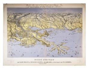 Panorama of the Seat of War: Birds Eye View of Louisiana, Mississippi, Alabama and Part of… by John Bachmann