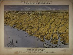 Panorama of the Seat of War: Birds Eye View of North and South Carolina and Part of Georgia, 1861 by John Bachmann