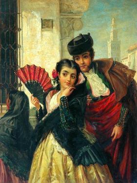 Scene In Spain, Near Seville, c.1853 by John-bagnold Burgess